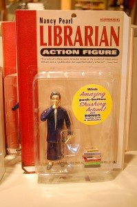 'Librarian action figure', te koop in de Library of Congress in Washington. Foto: Henk Kosters