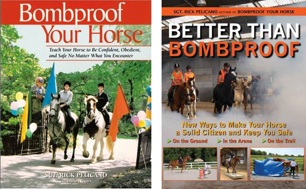 Voorzijden boeken: Bombproof your horse en Better than bombproof